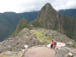 foto Nicky Koopmans op Macchu Picchu