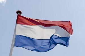 Nederlandse vlag in de wind