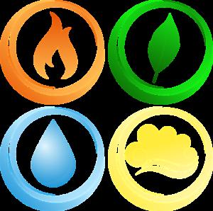 vier elementen landschap
