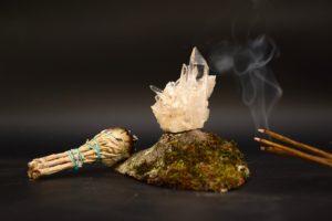 kristal salie wierook